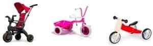 kollage av trehjulingar